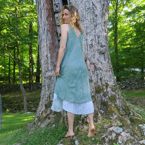 Fair trade organic cotton dress handmade by women in Thailand