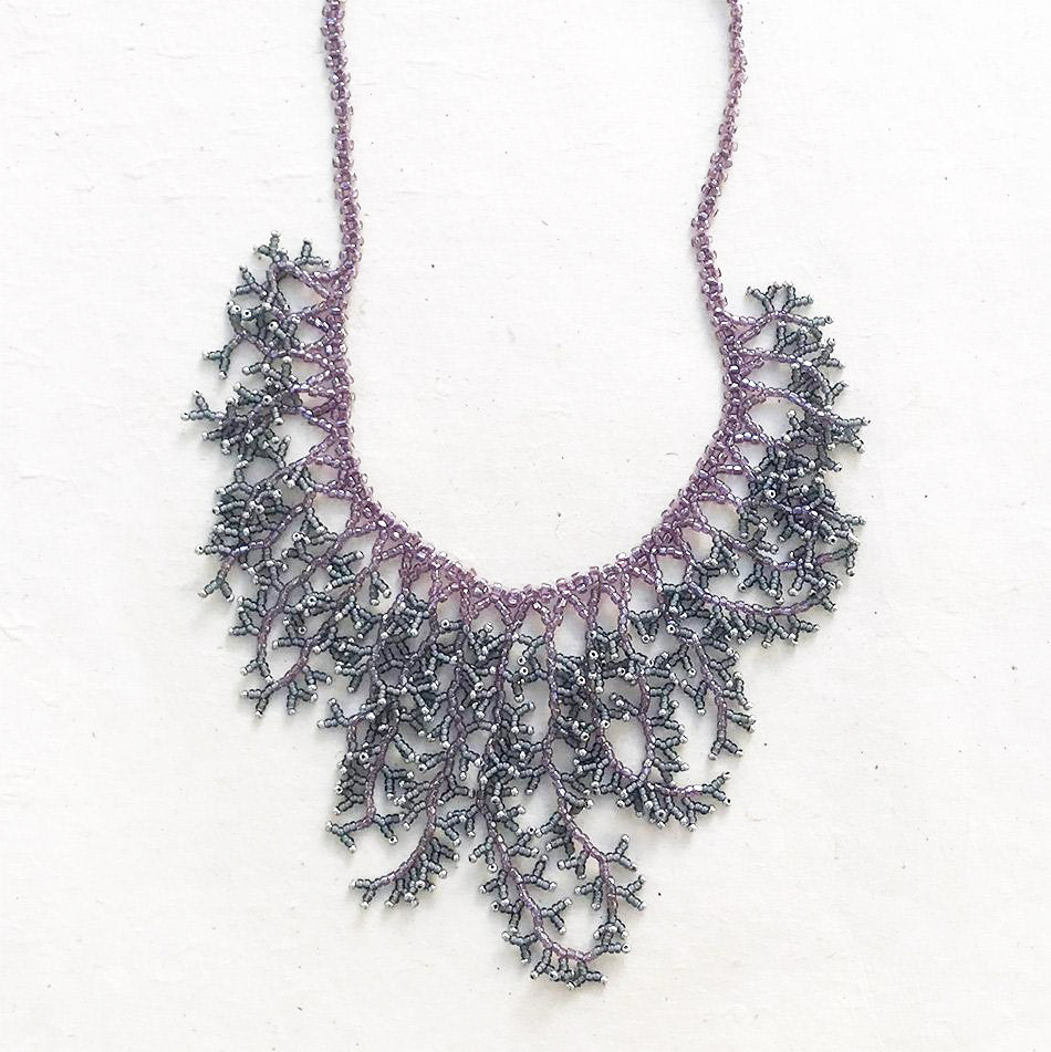 Harmony Necklace - Lavender/Silver, Guatemala