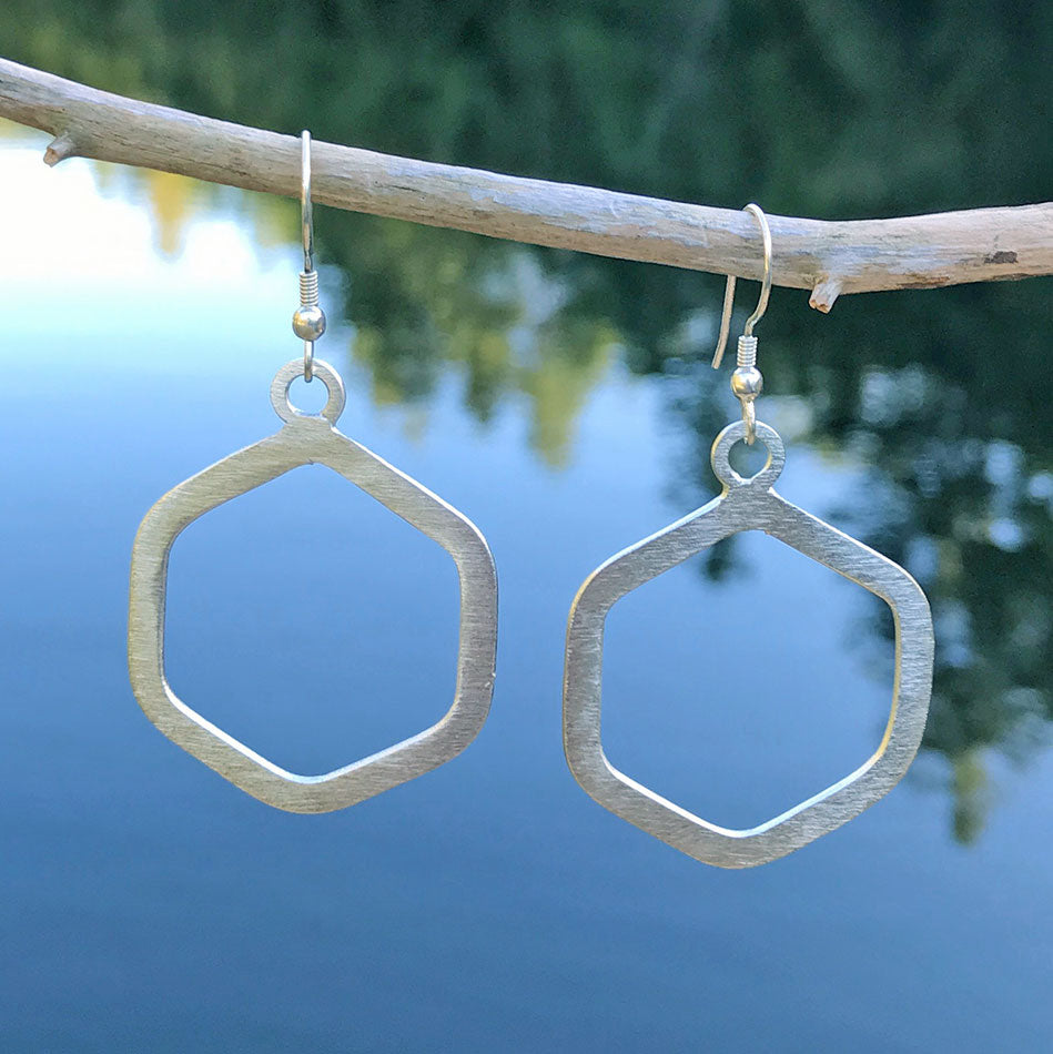 Fair trade silver earrings handmade in India.