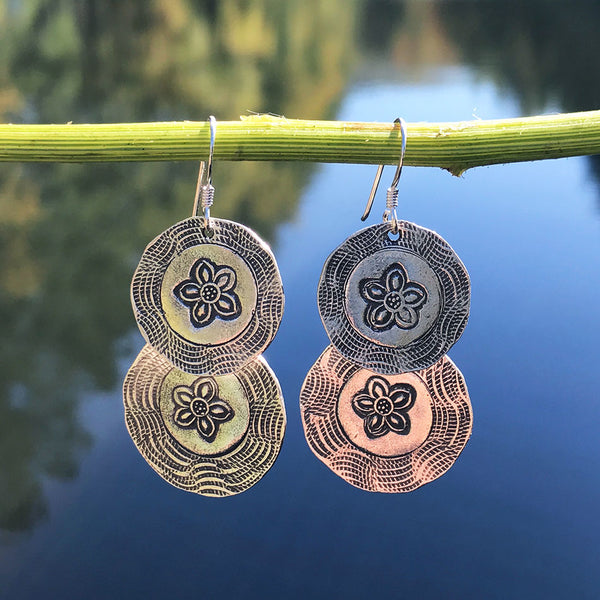 In Bloom Earrings - Sterling Silver, Thailand