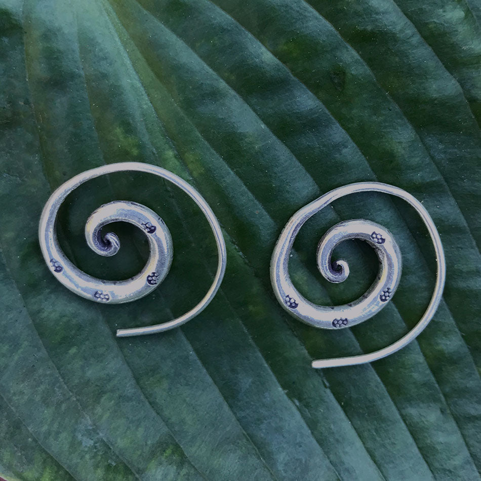 Sterling silver fair trade earrings Hill Tribe Thailand