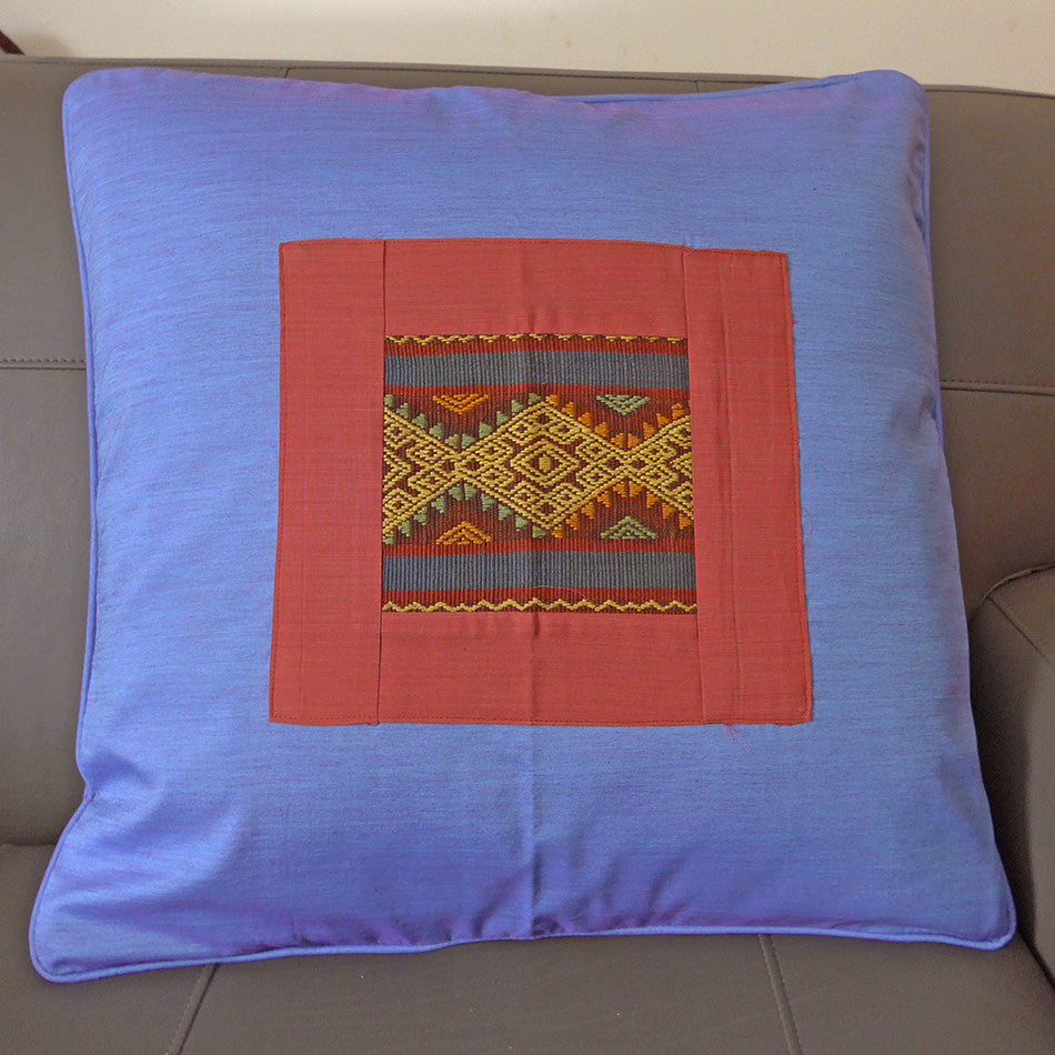 Ikat Pillow Cover - Rust, Indonesia
