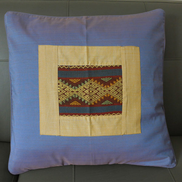 Ikat Pillow Cover - Beige, Indonesia