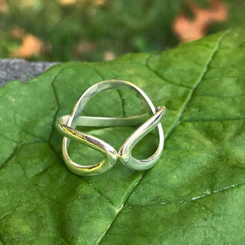 Sterling Silver Infinity Ring, Indonesia