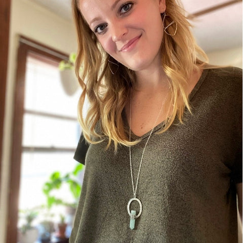 Jade fair trade long necklace