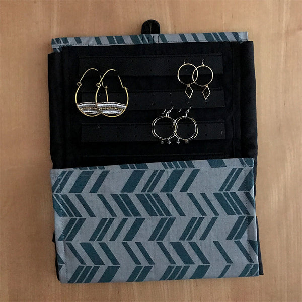 Fair trade jewelry travel case handmade in Cambodia