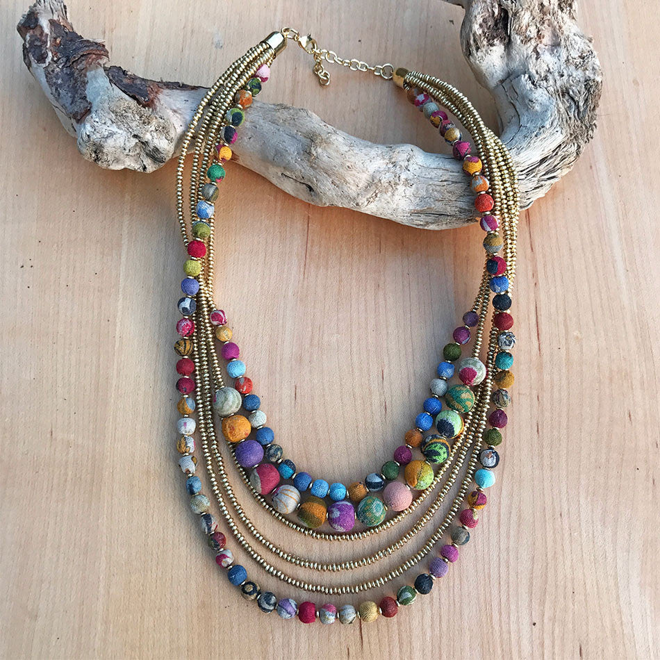 Respect the Earth Multi-strand Necklace, India
