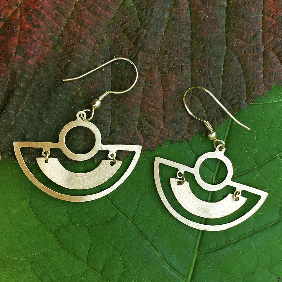 Keep Smiling Earrings - Gold , India