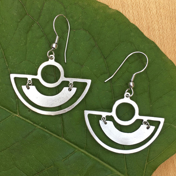 Keep Smiling Earrings - Silver, India