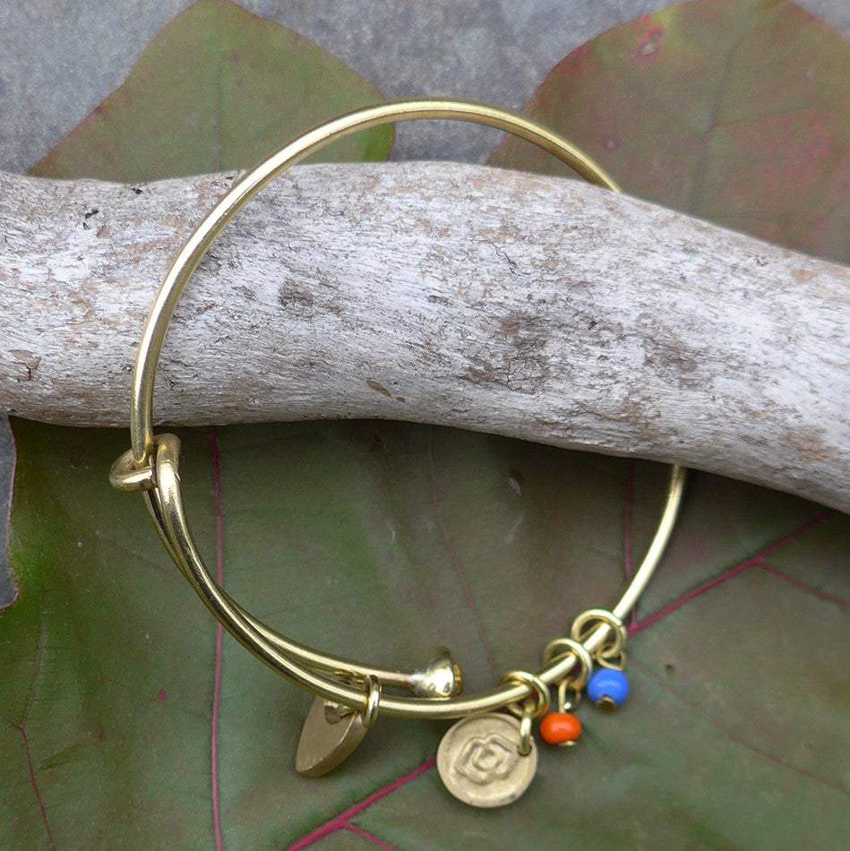Keep Women Safe Bracelet - Brass, Kenya