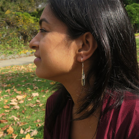 Fair trade sterling silver mother of pearl earrings