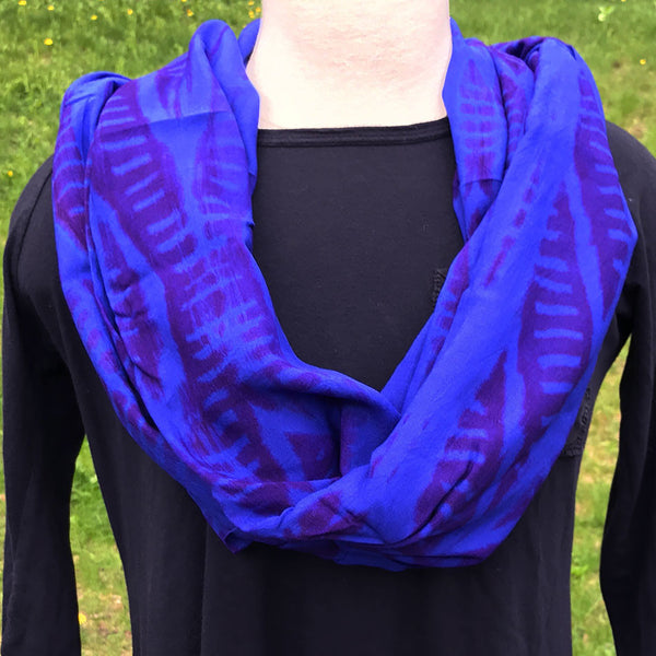 Safe Refuge Infinity Scarf - Blue and Purple, Kenya