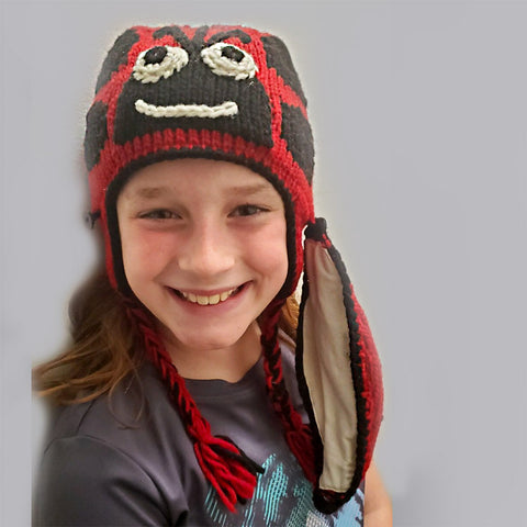 Fair trade wool kid's mask and hat