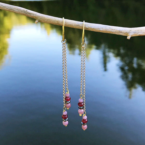 fair trade beaded earrings handmade in Thailand