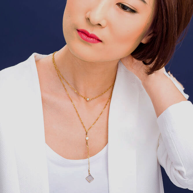 Fair trade druzy necklace handmade by survivors of human trafficking in China