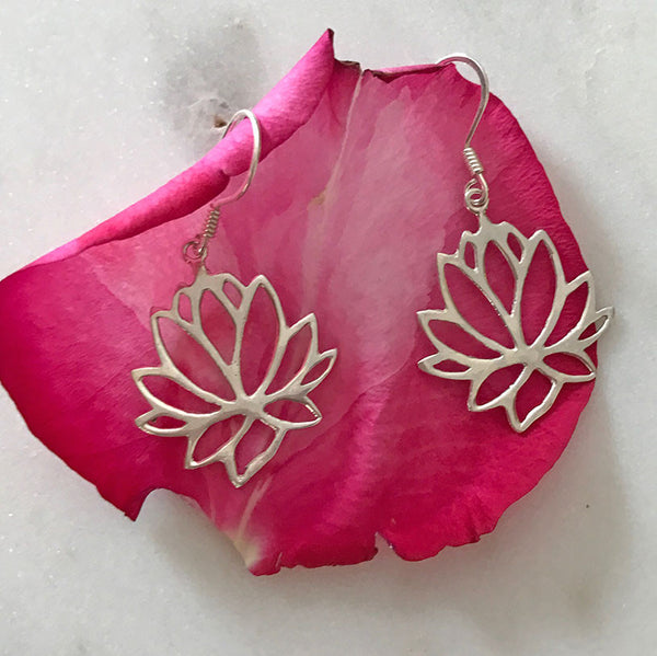Lotus Flower Earrings, Indonesia