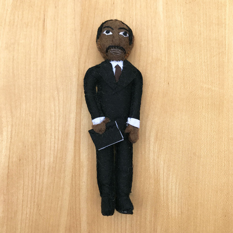 Martin Luther King Jr ornament handmade by women artisans.