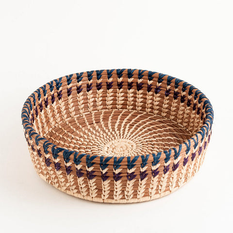 Fair trade gift pine needle basket