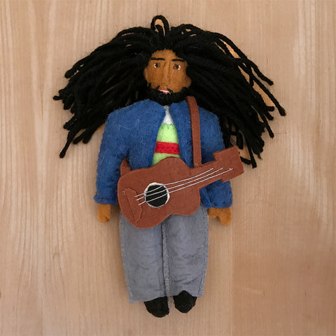 Bob Marley fair trade ornament handmade by women in Kyrgyzstan