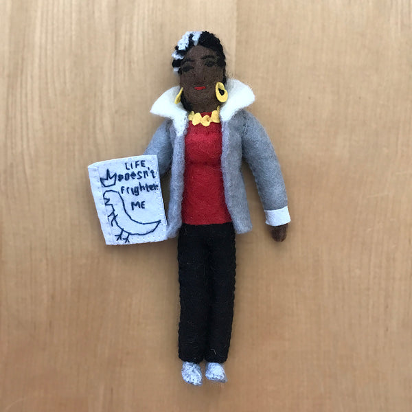Maya Angelou ornament handcrafted in a fair trade cooperative