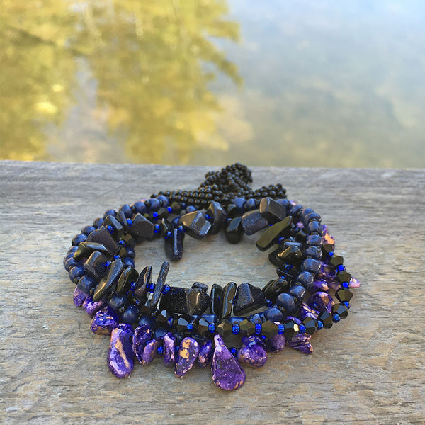 Fair trade beaded bracelet handmade in Guatemala