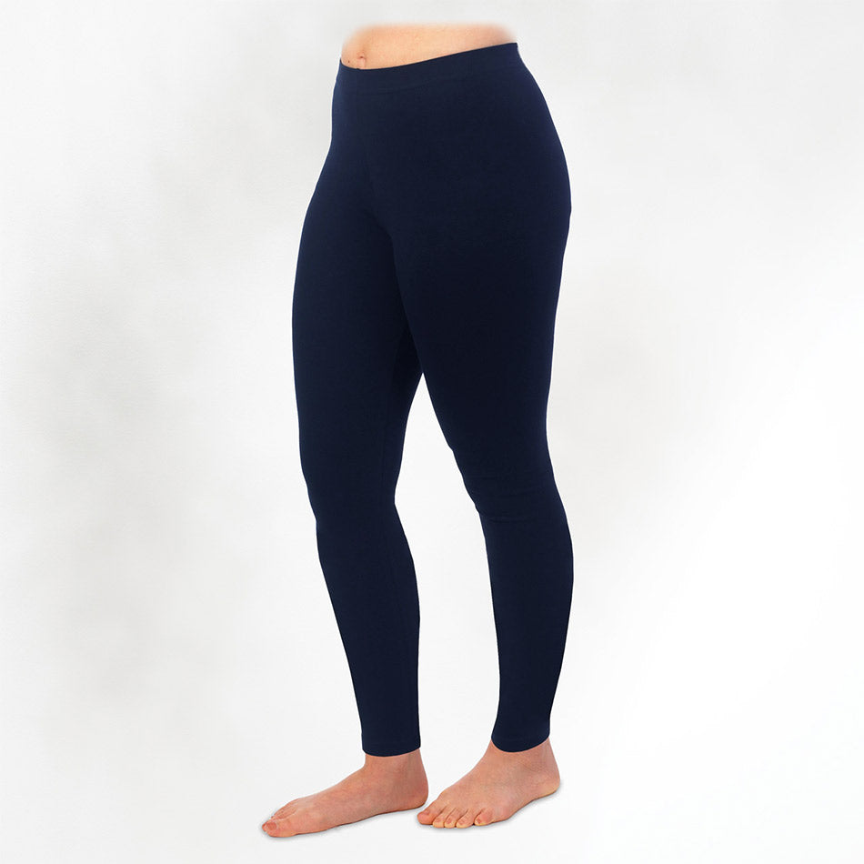 Fair trade organic cotton leggings handmade by women in Peru