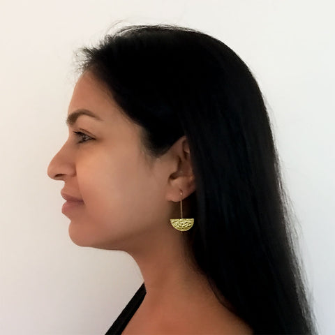 Half Moon Rising Earrings, India