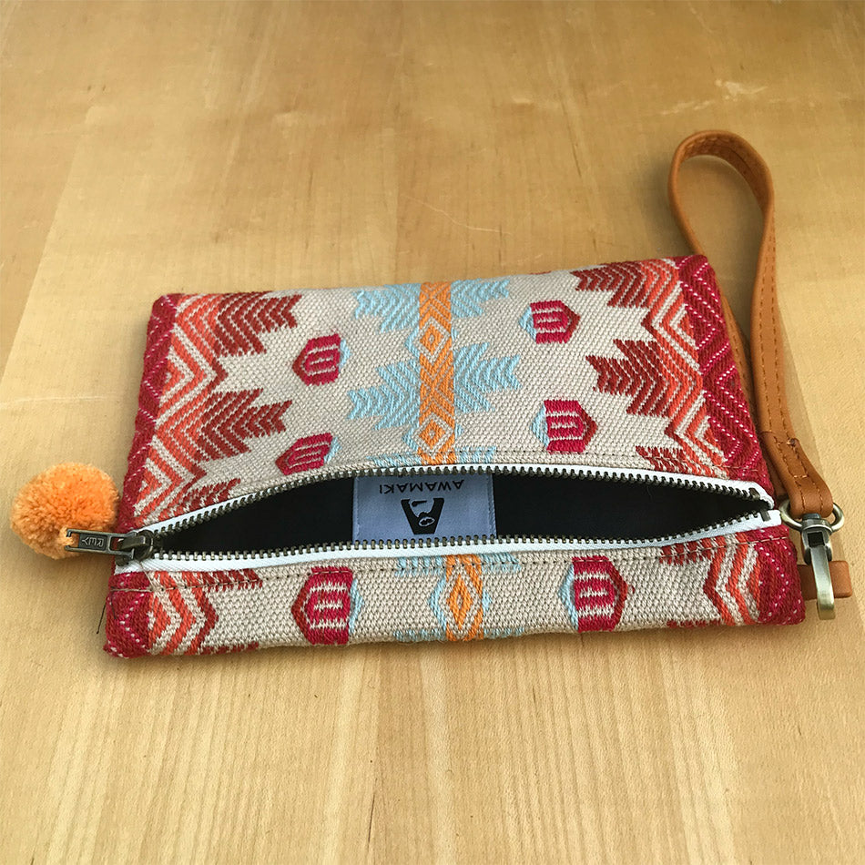 Fair trade clutch wristlet handmade in Peru