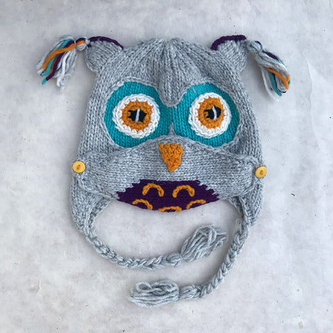 Fair trade child's hat and mask wool