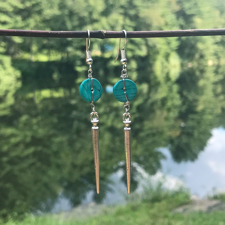 Fair trade earrings handmade by sexually abused women in India