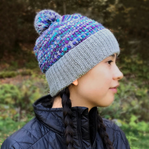 Fair trade alpaca hat handmade by women in Peru