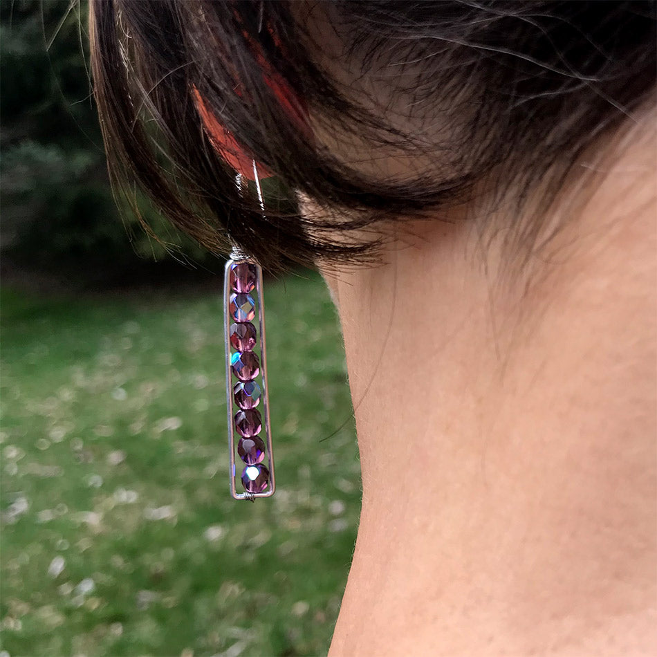 Fair trade beaded earrings handmade by women in Guatemala