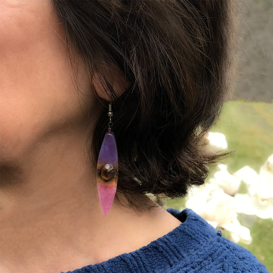 Fair trade glass earrings handmade by women in Guatemala