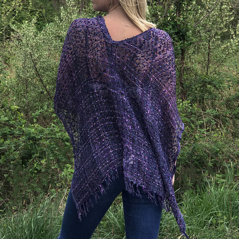 Fair trade shrug poncho hand woven in Nepal