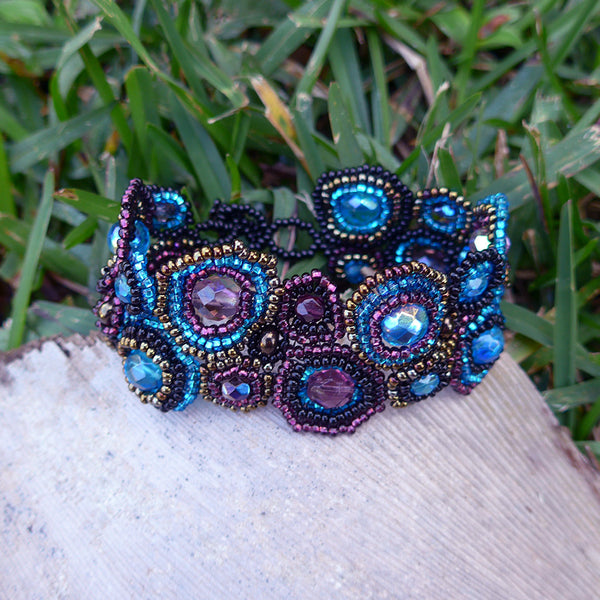 Crown Jewel Bracelet - Blue Multi, Guatemala