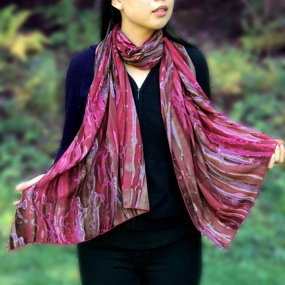 Watercolor Scarf/Wrap - Firefly, Bali