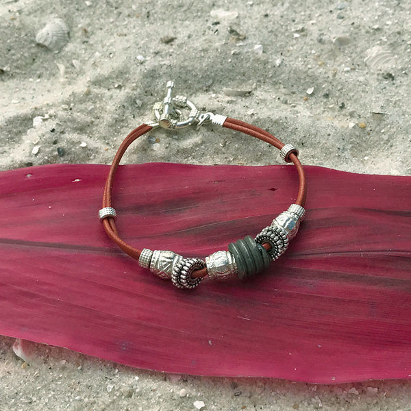 Save The Elephants Bracelet - red, Zambia