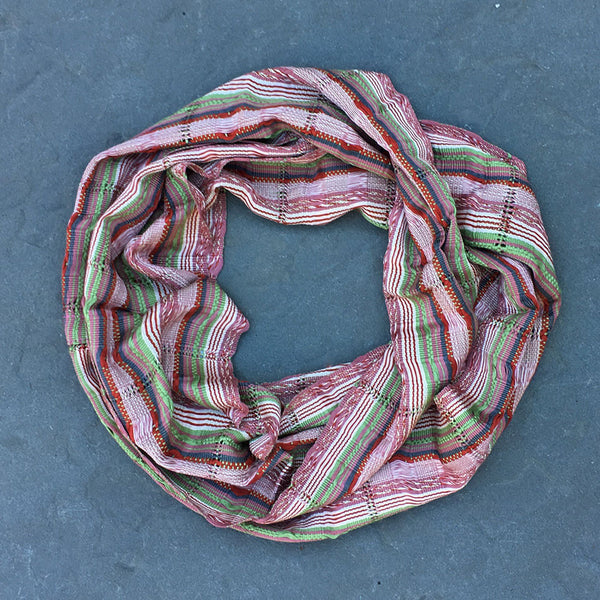 Fair trade infinity scarf handmade in Guatemala