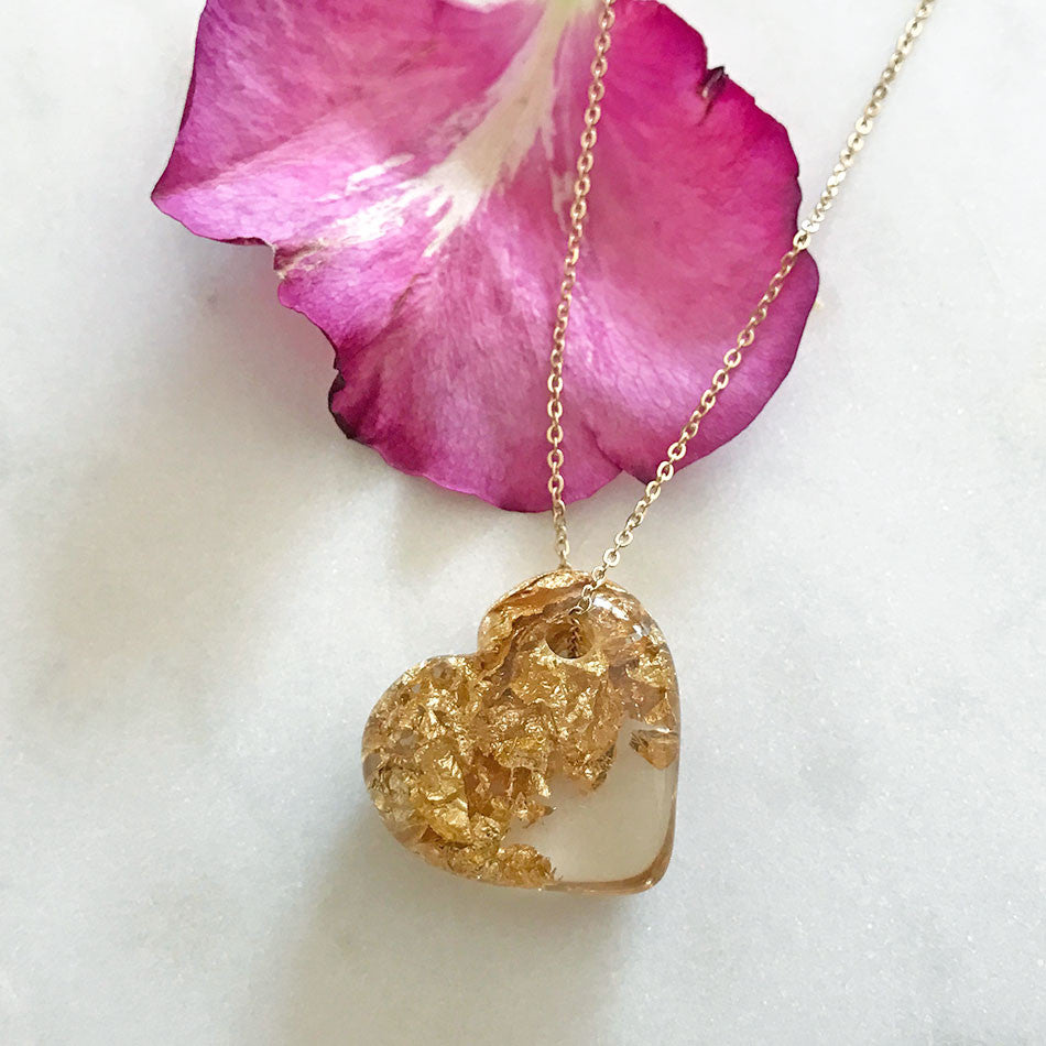 Eco-Resin Heart Necklace, Colombia