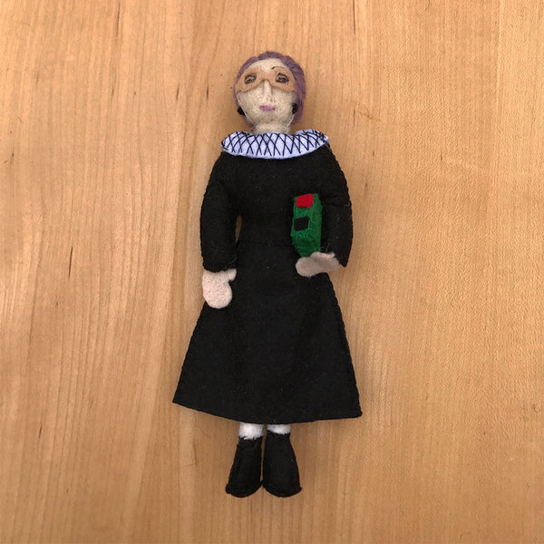 Ruth Bader Ginsburg fair trade ornament handmade by women.