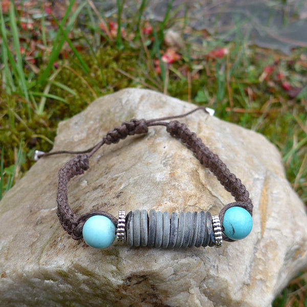 Save The Elephants Bracelet - turquoise, Zambia