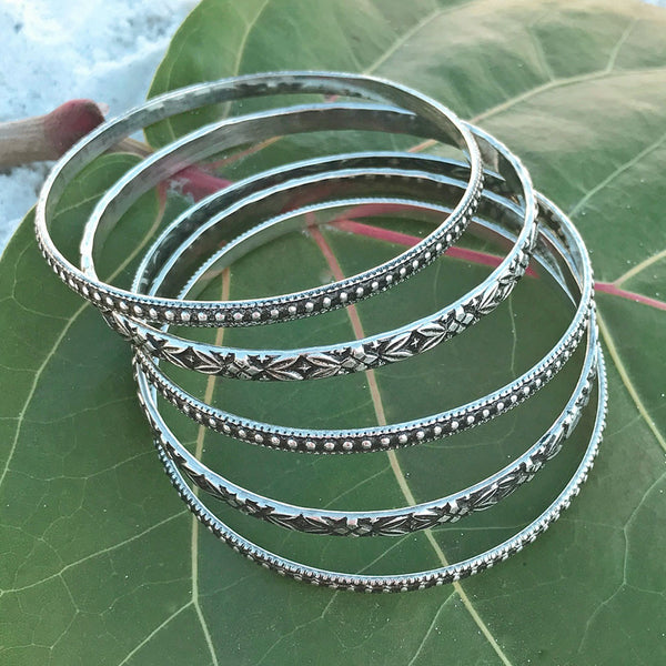 Boho Bangles - Set of Five, India
