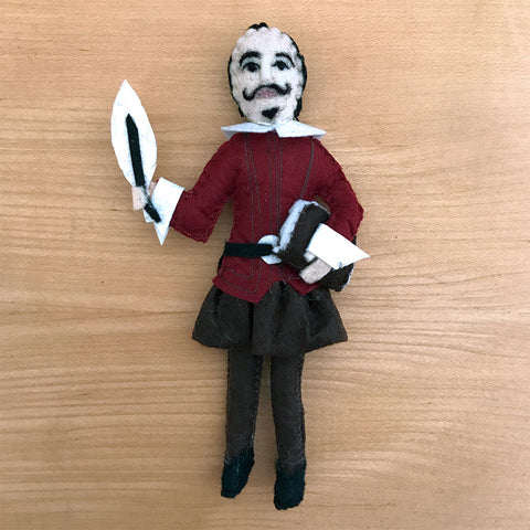 Fair trade Shakespeare ornament handmade by women in Kyrgyzstan