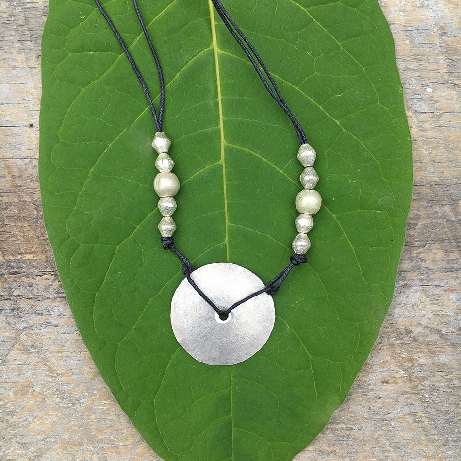 Over the Moon Necklace - Silver, Ethiopia