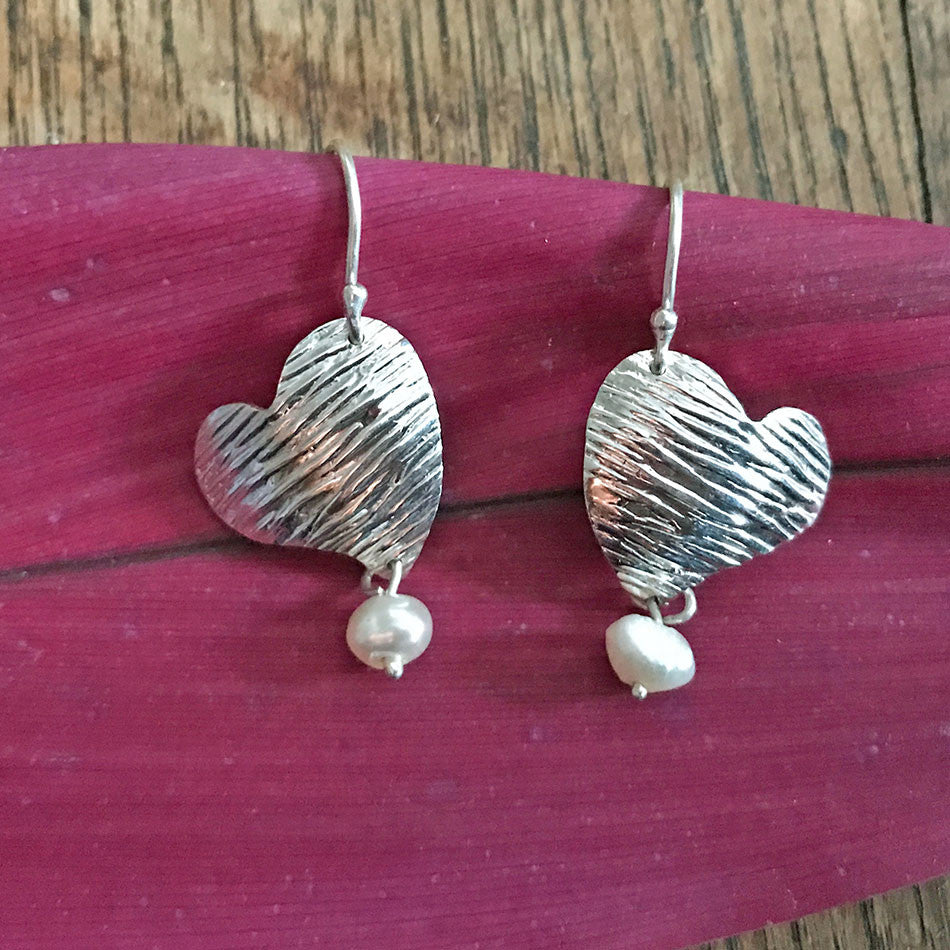 From the Heart Earrings - sterling silver, Peru