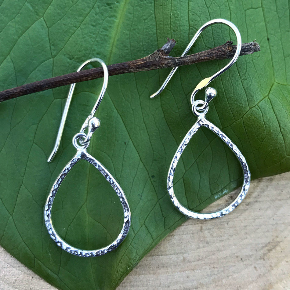Touch of Simplicity Earrings - Sterling Silver, Peru