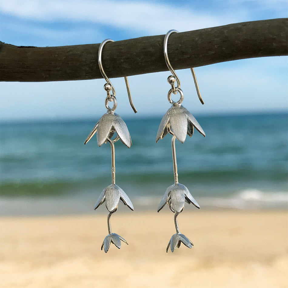 Sterling silver fair trade earrings handmade in Thailand