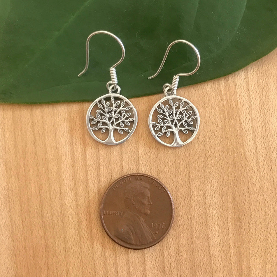 Tree of Life Earrings - Sterling Silver, Indonesia
