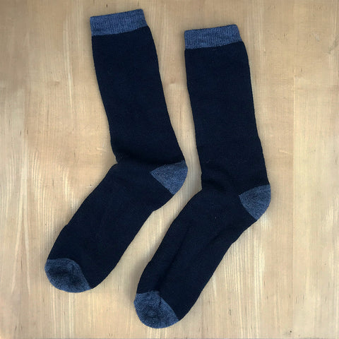 Fair trade men's alpaca socks