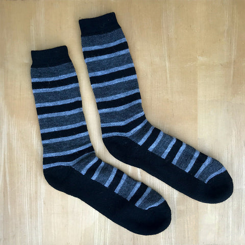Fair trade alpaca men's socks